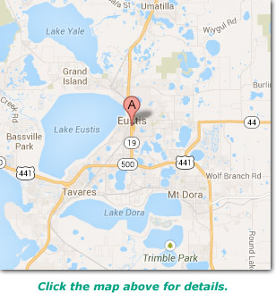 map of eustis, Fl